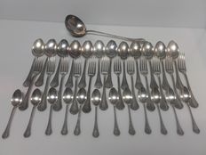 Christofle 37-piece silverware set (silver plated metal)
