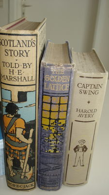 Lot of 3 Illustrated Books - Scotland's Story, The Golden Lattice &Captain Swing - 1906/1918