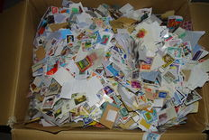 Global - Big box with thousands of stamps