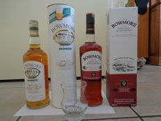 2 bottles - Bowmore Legend Old Label + Bowmore 9 years Sherry cask