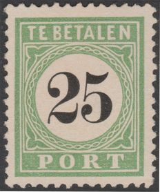 Curaçao 1889 – Port Number in black – NVPH P7 type I