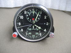 Pilot's clock for the MiG-23 fighter jet - chronometer (1960-1970).