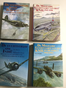Aerial warfare; Lot with 4 books about the aerial warfare in the Dutch Indies - 1985/1990