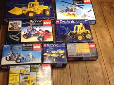 Technic - 8 sets o.a  8853 + 8640 + 8828 - Excavator + Polar Copter + Front End Loader