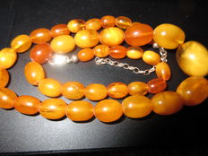 Antique Butterscotch 100% natural untreated Baltic Amber necklace, ca. 21 grams