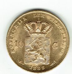 The Netherlands – 10 guilders 1888 William III of the Netherlands – Gold