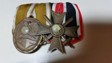 2 medals: For work to protect Germany