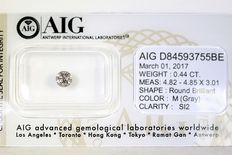 Diamond – 0.44 ct – M – SI2 – No reserve price