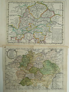 Germany, Austria; Hermann Moll - The South East part of Germany - 1701