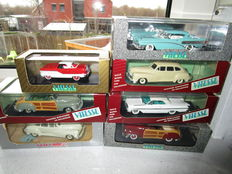 Vitesse - Scale 1/43 - Lot with 7 models: Buick Roadmaster 1958, Chevrolet Impala 1958, Desoto 1947, Chrysler T & C Cabriolet, Nash Metropolitan 1959,Chrysler T  & C Open and Chrysler Windsor 1947