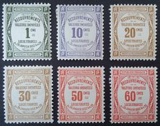 France 1908-25 – Tax series, including Yvert n° 47 signed Calves with digital certificate – Yvert n° 43-48