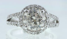 2.68ct Diamond Engagement Ring in 14kt white gold - size 6,5
