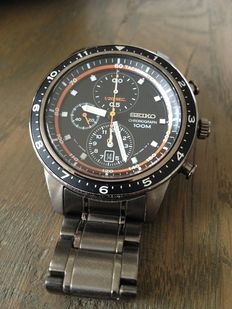 Seiko flyback chronograph – men's – 2014, full set!