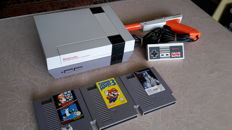 Nes incl. 3 games with Marioland 3, Marioland / Duckhunt and Adventures