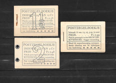 The Netherlands 1935/1942 – Three stamp booklets – NVPH PZ22d-N, PZ38-N, PZ53