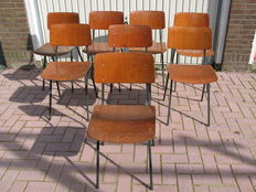 Eromes - 8 vintage chairs, type F-6.