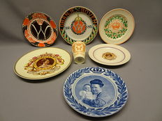 Lot with ceramics about the Dutch Royal Family, Queen Wilhelmina