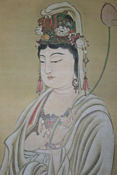 Hanging scroll  Kannon Bosatzu (Guan Yin)  - Japan - first half 20th century