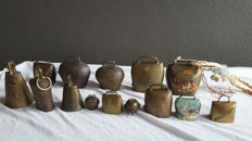 14 pieces of bronze goats/cow bells - Austria/Switzerland