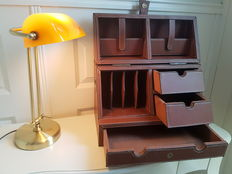 Table or travel desk with notary lamp