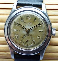 SORe'N Switzerland Military 15 rubies – men's wristwatch from the 1940s to 1950s – very rare collector's item