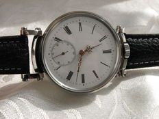 38. IWC Schaffhausen marriage men's wristwatch 1894-1895