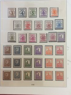 Soviet Zone, West Sachsen - Collection of Michel 138Y/165A without block