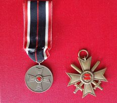 2 War Merit Crosses 2nd Class with Swords / Medal without Swords / WW2