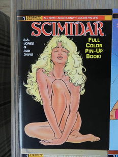 Erotic Comics - includes Scimidar, Fem Force, Sheena, Apache Dick and One-Fisted Tales - 34x sc - (1987 / 2008)