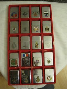 ZIPPO - Collection of 20 lighters from the 90s - unused