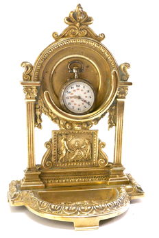 Bronze pocket watch support - France - late 19th century