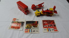 Classic / Legoland - 332 + 376 + 384 - Tow Truck + Low-Loader with Excavator + London Bus