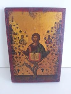 Greek icon on wood - Christopher