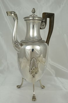 Tripod jug in sterling silver, Sixt-Simon-Rion, Paris, France, early 19 th century
