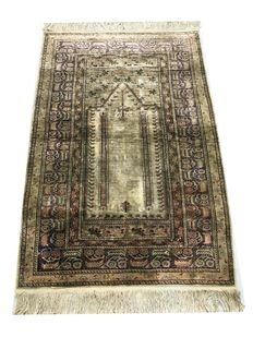 Magnificent silk rug: Kayseri (Turkish) in silk, 135 x 90 cm dating from 1940.