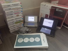 Nintendo ds lite & nintendo dsi XL with a lot of games and chargers