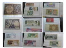 World - Collection of various banknotes (635 pieces) in 6 books