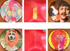 "The Beatles  2 x Picture Disc LP Set  "" # 1's / Number Ones""  -  Psychedelic Picture Discs !"