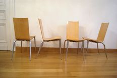 "Philippe Starck for Driade – Aleph ""Olly Tango"" 4 chairs"