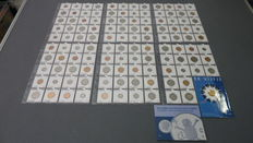 The Netherlands – 5 cents up to 5 guilders 1980/2001 Beatrix – complete, without silver