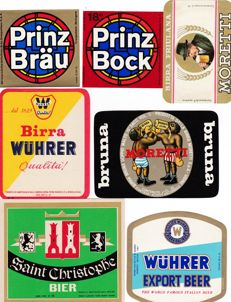 Collection of 96 old Italian Beer / Birra labels