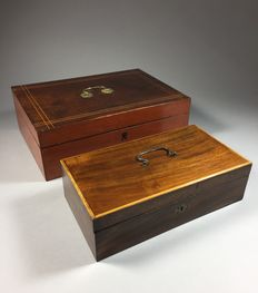Two document chests - France - 2nd half 19th century