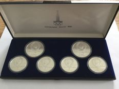 Russia: Olympiad Moscow 1980, set with 6 coins
