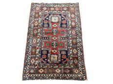 Splendid handmade oriental carpet: Antique Kazak Konagend 142 x 92 cm