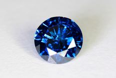 Blue diamond – 0.37 ct