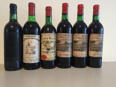 Mixed lot of 6 bottles from Bordeaux region