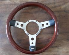 Beautiful Original Mountney Mahogany Colour 13.5 inch Steering Wheel