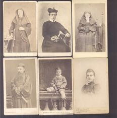 Portrait photos from the Netherlands and the Dutch East Indies - 25x - 1880/1910