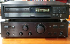 Onkyo amplifier A 803 and CD player DX 1400