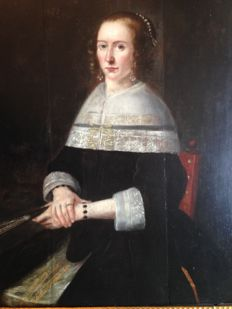 J.B. van Blancken - Dutch Master (approx. 1660) - Portrait of a Dutch Woman